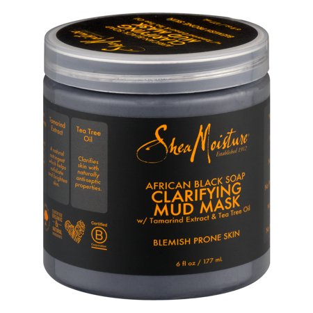 SheaMoisture African Black Soap Clarifying Face Mud Mask - Smiley Face Mask