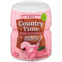(12 Pack) COUNTRY TIME Pink Lemonade Sugar Sweetened Powdered Soft Drink 23.9 oz. Cannister