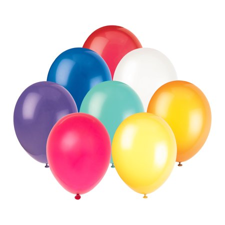 - Latex Balloons, Assorted, 12in, 72ct