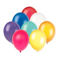 Latex Balloons, Assorted, 12in, 72ct