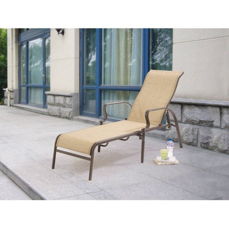 Mainstays Wesley Creek Sling Chaise Lounge Double Arm Chaise Lounge