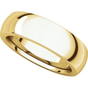 14kt Yellow 6mm Heavy Comfort Fit Band