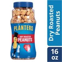 (2 Pack) Planters Dry Roasted Peanuts, 16 oz Jar