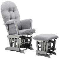 Angel Line Windsor Glider and Ottoman, Gray w/ Gray Cushion