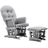 Angel Line Windsor Glider and Ottoman, Gray w/ Gray Cushion