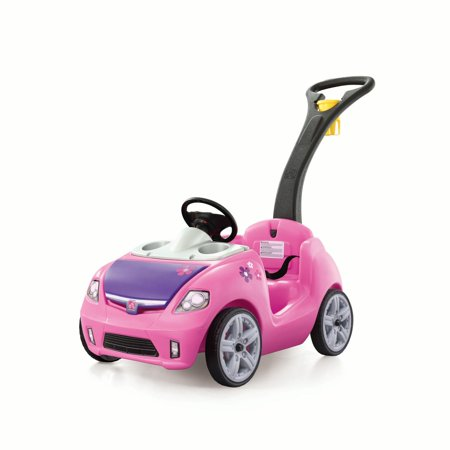 Step2 Whisper Ride II Kids Pink Ride On Push Car (Pink Pouch)