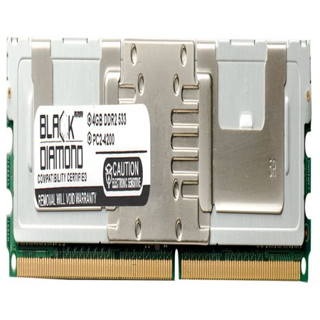 4GB RAM Memory for HP ProLiant Series XW460c Blade Workstation 240pin PC2-4200 DDR2 FBDIMM 533MHz Black Diamond Memory Module - Compaq Proliant Xw460c Blade