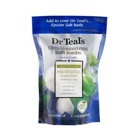 - Dr. Teal's Ultra Moisturizing Bath Bombs, Eucalyptus, 5 Count, 1.6 oz