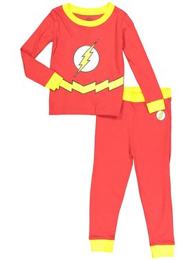 DC Comics Flash Baby Toddler Boy Tight Fit Pajamas 2pc Set