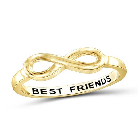 Best Friends Sterling Silver Infinity Ring