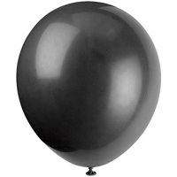 Latex Balloons, 12 in, Black, 72ct