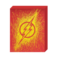 "DC Comics, Paint Splatter Canvas, ""Flash"" Logo"