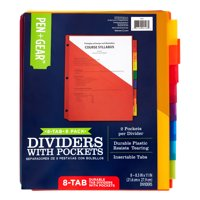 Pen + Gear 8-tab Durable Divider with Pockets, Letter Size, 6-pack