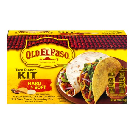 (4 Pack) Old El Paso™ Hard & Soft Taco Dinner Kit 11.4 oz Box
