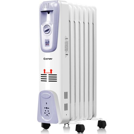 costway 1500w electric oil filled radiator space heater 7. Black Bedroom Furniture Sets. Home Design Ideas