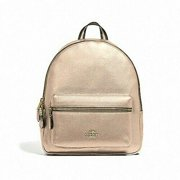 c7f91789bb1d4 NEW WOMEN'S COACH (F39196) PLATINUM PEBBLED LEATHER MEDIUM CHARLIE BACKPACK  BAG