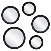 Mainstays 5-Piece Circle Mirror Set, Black Finish, 7 Inch, 9 Inch, and 11 Inch