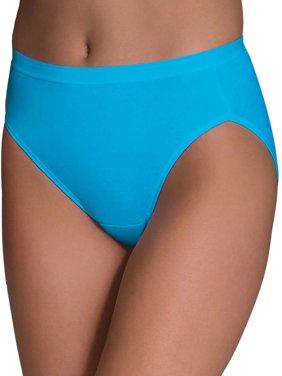 Women's Assorted Cotton Hi-Cut Panties, 6 Pack