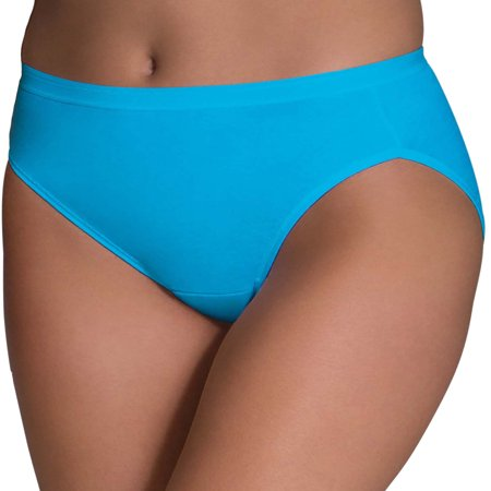 Plus Size Womens Underwear - Women's Assorted Cotton Hi-Cut Panties, 6 Pack