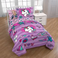 Nickelodeon JoJo Siwa Twin & Full Comforter and Sham Set, Kid's Bedding, 2 Piece