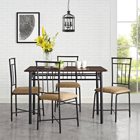 Mainstays 5 Piece Dining Set, Multiple Colors (5 Piece Dining Collection)