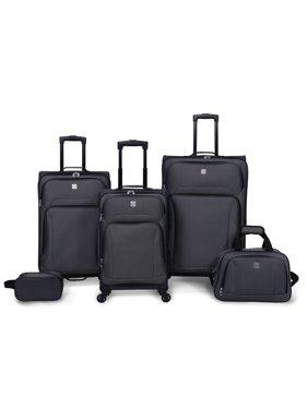 5 Piece Spinner Luggage Set, Grey