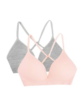 Fruit of the Loom Seamless Soft Cup Bra, 2 Pack (Big Girls)