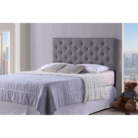 Baxton Studio Viviana Modern and Contemporary Fabric Upholstered Button-Tufted Full Size Headboard, Multiple Sizes and Colors