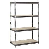 """Muscle Rack 4-Shelf Steel Shelving, Silver-Vein, 18"""" D x 36"""" W x 60"""" H"""