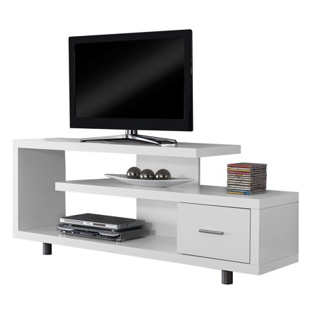 Monarch Tv Stand White With 1 Drawer For TVs Up To 47