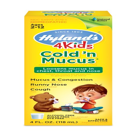 Hylands 4 Kids Cold N Mucus Relief Liquid Natural Relief Of Mucus