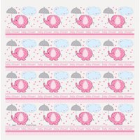 Pink Elephant Baby Shower Wrapping Paper Roll