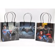 12 Batman vs. Superman Party Favor Bags Birthday Candy Treat Favors Gifts Plastic Bolsas De Recuerdo