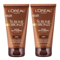 (2 Pack) L'Oreal Paris Sublime Bronze Tinted Self-Tanning Lotion