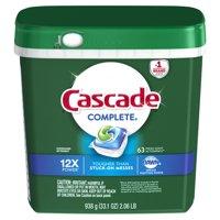 Cascade Complete ActionPacs Dishwasher Detergent, Fresh Scent, 63 count