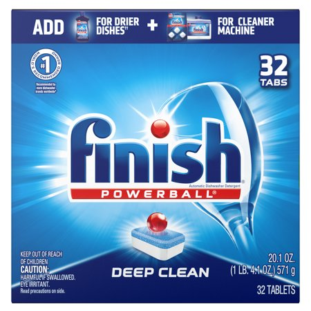 Finish Powerball Deep Clean, 32 Tabs, Dishwasher Detergent Tablets