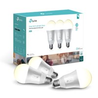 TP-Link LB100 A19 Smart Light Bulb, 50W Dimmable White LED, 3-Pack