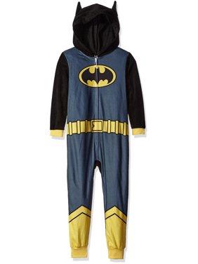 Justice League Boys' Batman Pajama Cosplay Union Suit, Size: 8