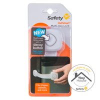 Safety 1st OutSmart Multi-Use Lock With Decoy Button, White