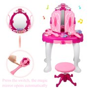 Eecoo S Make Up Dressing Table Kids Pretend Play Toy Beauty Mirror Vanity Playset With