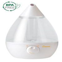 Crane Drop Ultrasonic Cool Mist Humidifier - Clear & White