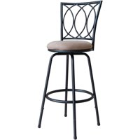Roundhill Redico Adjustable Metal Barstool, Powder Coated Black