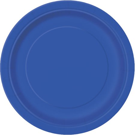(3 Pack) Paper Plates, 7 in, Royal Blue, 24ct (Blue Snowflake Plates)
