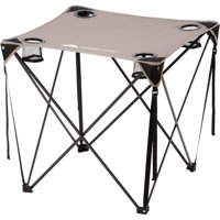 Ozark Trail Quad Folding Table with Cup Holders, Grey