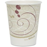 Solo, SCC370SMJ8000, Cup Poly Lined Hot Paper Cups, 50 / Pack, Beige, 10 fl oz