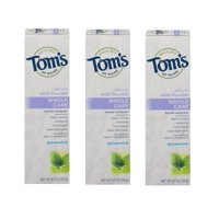 (3 Pack) Tom's of Maine Natural with Fluoride Whole Care Toothpaste Spearmint, 4.7 OZ