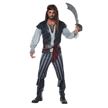 Scallywag Pirate Men's Adult Costume - Pirate Makeup For Men