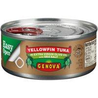 (3 Pack) Genova Yellowfin Tuna in Olive Oil with Sea Salt, 5 oz