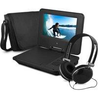 "Ematic Epd707bl 7"" Portable Dvd Player Bundles (black)"