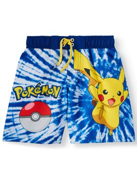 Pikachu Graphic Swim Trunk (Little Boys & Big Boys)